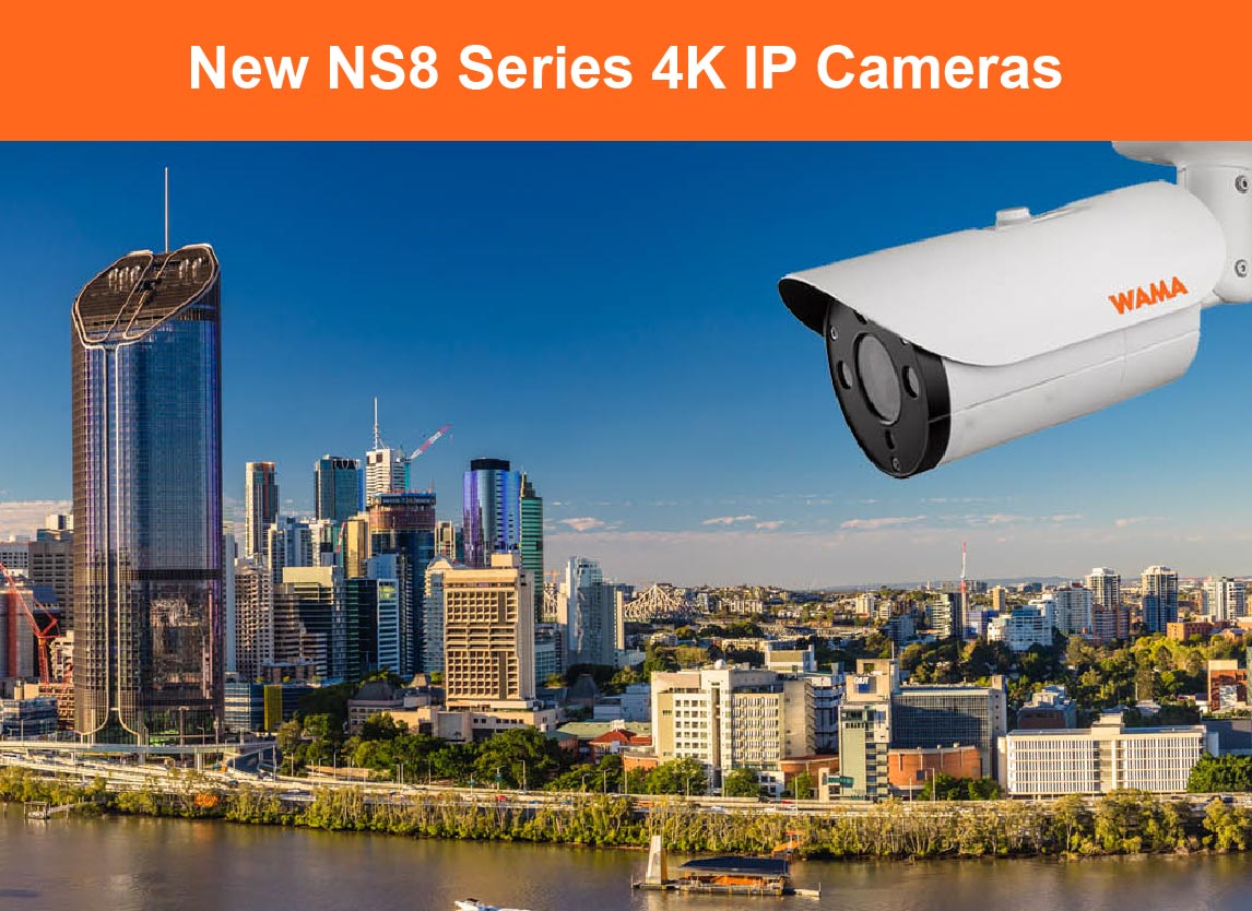 NS8 Series 4K H.265 Intelligent IP Cameras