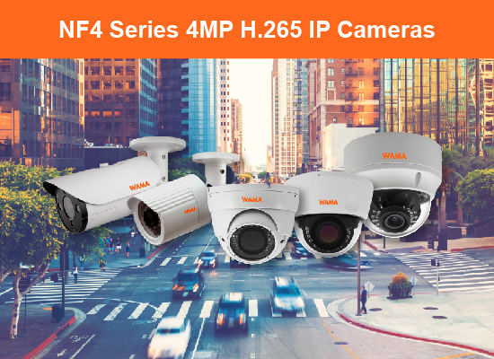 WAMA NF4 Series 4MP IP Cameras