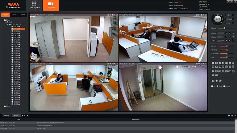 WAMA Commander Video Management Software